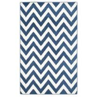 Safavieh Amherst 6-Foot x 9-Foot Chevy Area Rug in Navy