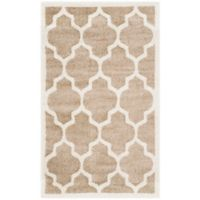 Safavieh Amherst 3-Foot x 5-Foot Whirl Area Rug in Wheat