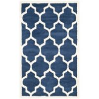 Safavieh Amherst 3-Foot x 5-Foot Whirl Area Rug in Navy