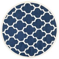 Safavieh Amherst 5-Foot x 5-Foot Whirl Area Rug in Navy