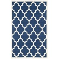 Safavieh Amherst 5-Foot x 8-Foot Whirl Area Rug in Navy