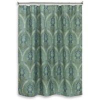 Bacova Landon Medallion Shower Curtain In Blue