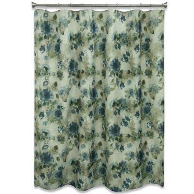Buy Blue Floral Shower Curtains from Bed Bath & Beyond