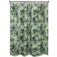 Bacova Landon Floral Shower Curtain in Blue