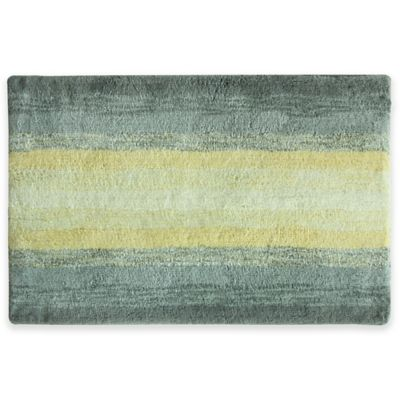 Bacova 20 Inch X 30 Inch Portico Bath Rug In Yellow/Grey