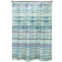 Bacova Indigo Stripe Shower Curtain in Blue