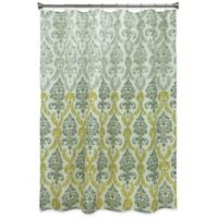 Bacova Portico Damask Shower Curtain in Yellow/Grey