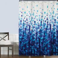 Saturday Knight Mist Shower Curtain in Blue