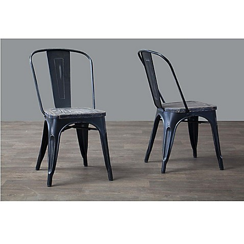 Baxton studio french industrial dining chairs set of 2 for Baxton studio chair design