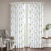 Regency Heights® Rico Palm 84-Inch Grommet Top Window Curtain Panel in White