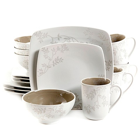 gibson elite zenses 16piece dinnerware set