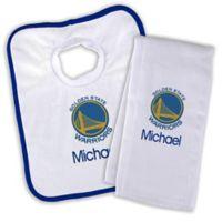 NBA Golden State Warriors Bib and Burb Cloth Set