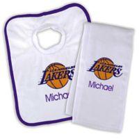 NBA Los Angeles Lakers Bib and Burb Cloth Set