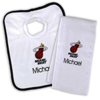 NBA Miami Heat Bib and Burb Cloth Set
