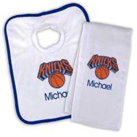 NBA New York Knicks Bib and Burb Cloth Set
