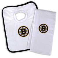 NHL Boston Bruins Bib and Burb Cloth Set