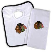 NHL Chicago Blackhawks Bib and Burb Cloth Set