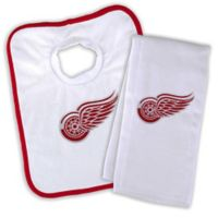 50d387bed16 Designs by Chad and Jake NHL Detroit Red Wings Personalized Bib and Burb  Cloth Set