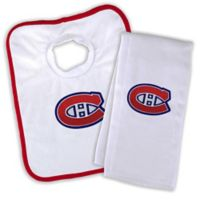 NHL Montreal Canadiens Bib and Burb Cloth Set
