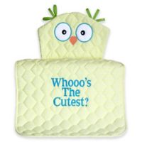 """Silly Phillie® Creations Owl Character """"Whooo's the Cutest?"""" Changing Pad in Yellow"""