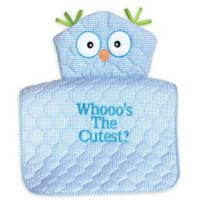 """Silly Phillie® Creations Owl Character """"Whooo's the Cutest?"""" Changing Pad in Blue"""