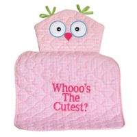 """Silly Phillie® Creations Owl Character """"Whooo's the Cutest?"""" Changing Pad in Pink"""