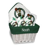 Designs by Chad and Jake 6-Piece Boston Celtics Medium Gift Basket in White