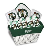 Designs by Chad and Jake 8-Piece Boston Celtics Large Gift Basket in White