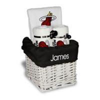 Designs by Chad and Jake 3-Piece Miami Heat Small Gift Basket in White