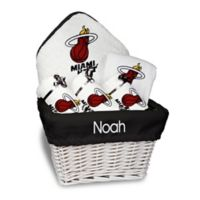 Designs by Chad and Jake 6-Piece Miami Heat Medium Gift Basket in White
