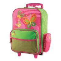 Stephen Joseph™ Butterfly Rolling Luggage in Pink