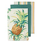 Tommy Bahama Tortuga Pineapple Kitchen Towels (Set of 3)