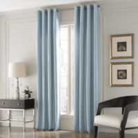 Valeron Lustre Solid 84-Inch Window Curtain Panel in Blue
