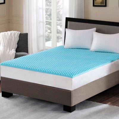Sleep Philosophy Flexapedic 1 5 Inch Gel Memory Foam Twin Xl Mattress Topper In Blue