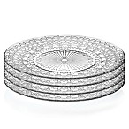 Lorren Home Trends Medici 10-Inch Crystal Dinner Plates (Set of 4)