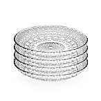 Lorren Home Trends Medici 7-Inch Crystal Salad Plates (Set of 4)