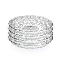 Lorren Home Trends Medici 7-Inch Crystal Salad Plates (Set of 4)