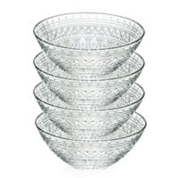 Lorren Home Trends Medici 6.5-Inch Crystal Soup Bowls (Set of 4)