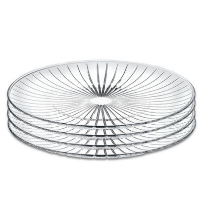 Lorren Home Trends Sunbeam 10-Inch Crystal Dinner Plates (Set of 4)  sc 1 st  Bed Bath u0026 Beyond & Buy Clear Dinner Plates from Bed Bath u0026 Beyond