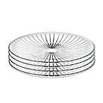 Lorren Home Trends Sunbeam 7-Inch Crystal Salad Plates (Set of 4)