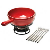 Emile Henry 8-Piece Fondue Set in Burgundy