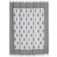 Nomad Shower Curtain in White/Black
