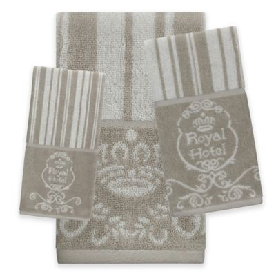 royal hotel bath towel in taupe