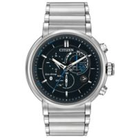 Citizen Eco-Drive Mens' 45mm Proximity Chronograph Bluetooth Watch in Stainless Steel