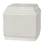 Nomad Boutique Tissue Box Cover in White/Black
