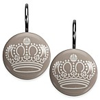 Royal Hotel Shower Curtain Hooks in Taupe (Set of 12)