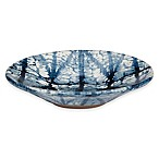 Shibori Geometric Soap Dish in Indigo
