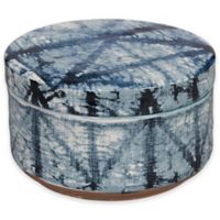 Shibori Geometric Ceramic Jar in Indigo
