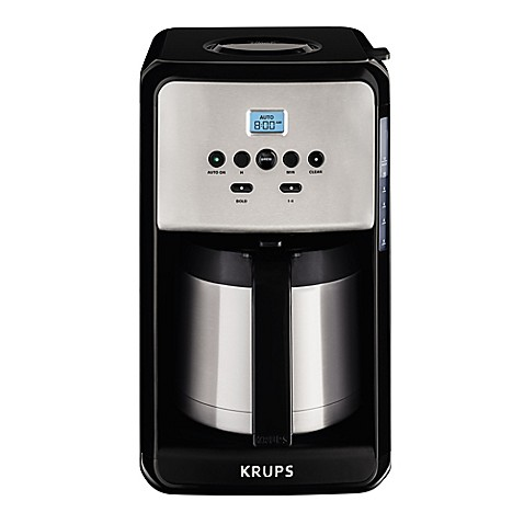 KRUPS® Savoy 12-Cup Programmable Coffee Maker in Black/Stainless Steel