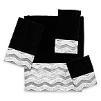 Avanti Chevron Galaxy Bath Towel in Black